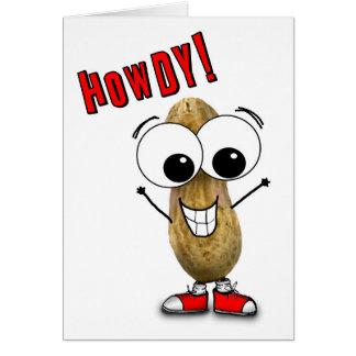 Silly Howdy Googly Eyed Peanut Hi Card
