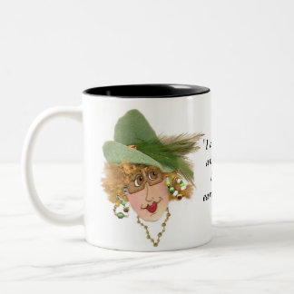 Silly Lady with Earrings Mug