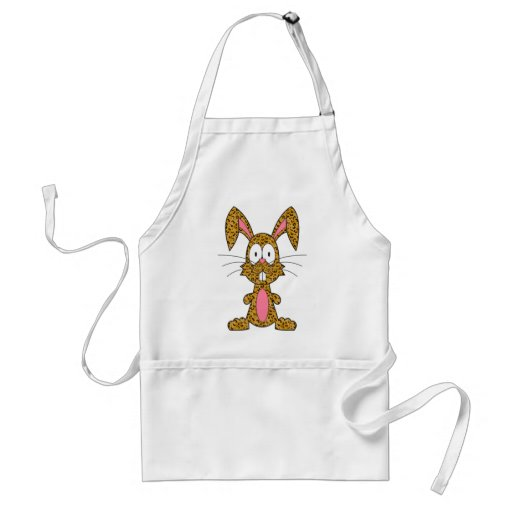 Silly Leopard Bunny Aprons