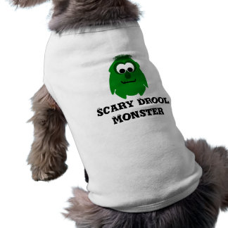 Silly Little Dark Green Monster Doggie T-shirt