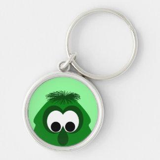Silly Little Dark Green Monster Keychain