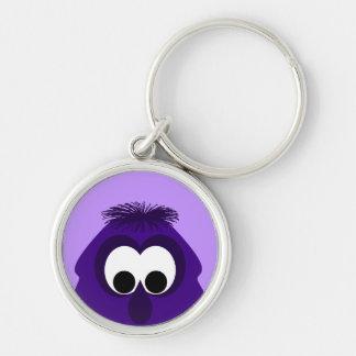 Silly Little Dark Purple Monster Key Chain