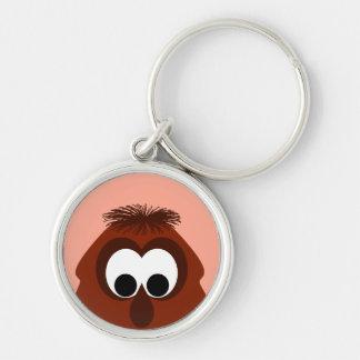 Silly Little Dark Red Monster Keychains