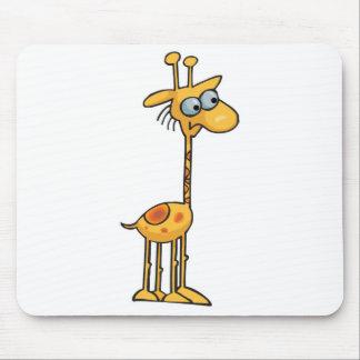 silly little giraffe mouse pad