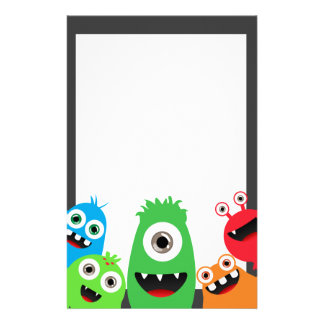 Silly Little Monsters Stationery Paper