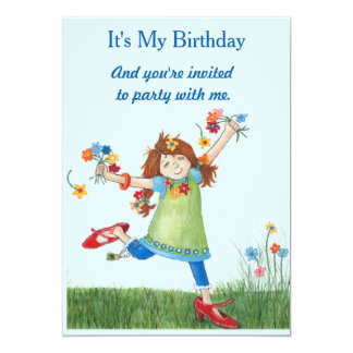 Silly McGilly Flower Power Birthday Invitation