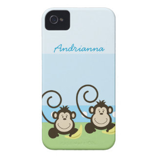 Silly Monkeys Personalized Blackberry Phone Case