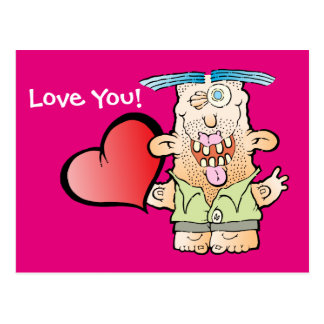 Silly Monster's Even More Mushy Postcard