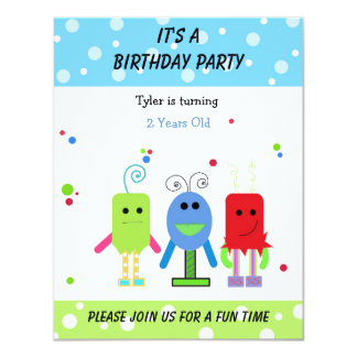 Silly Monsters Birthday Invitation