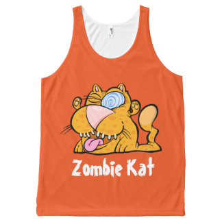 Silly Monster's Zombie Kat Unisex Tank Top