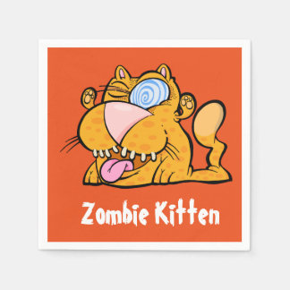Silly Monster's Zombie Kitty Paper Napkins