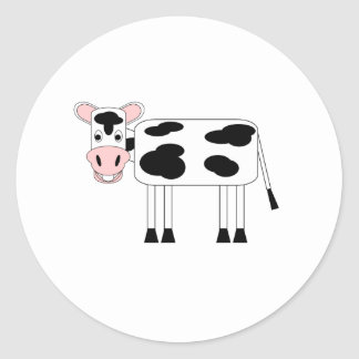 Silly Moo Classic Round Sticker