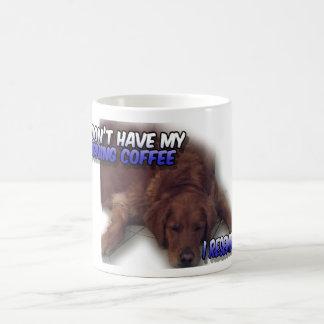 Silly Morning Coffee Dog Mug