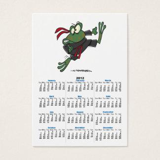 silly ninja frog cartoon business card