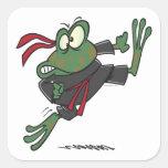 silly ninja frog cartoon stickers