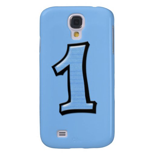 Silly Number 1 blue iPhone 3G Case Galaxy S4 Cases