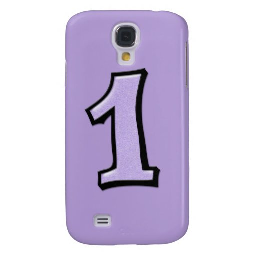 Silly Number 1 lavender iPhone 3G Case Samsung Galaxy S4 Covers