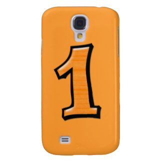 Silly Number 1 orange iPhone 3G Case Samsung Galaxy S4 Covers