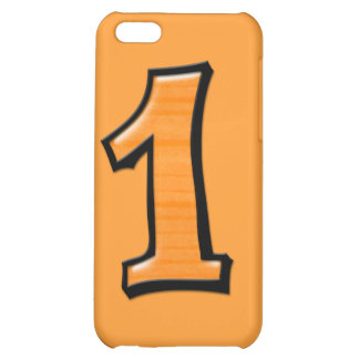 Silly Number 1 orange iPhone 4 Case