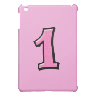 Silly Number 1 pink iPad Case
