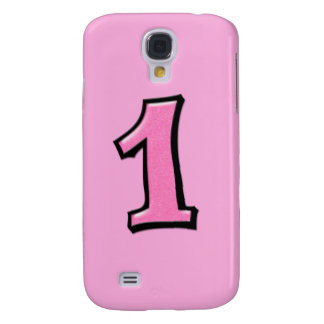Silly Number 1 pink iPhone 3G Case Samsung Galaxy S4 Covers