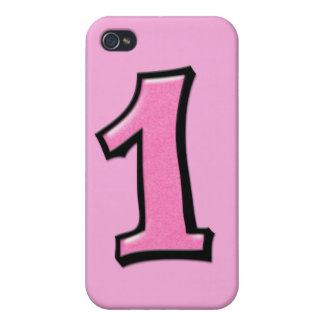 Silly Number 1 pink iPhone 4 Case