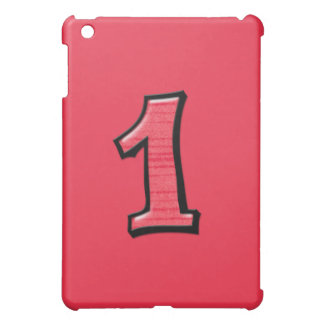 Silly Number 1 red iPad Case
