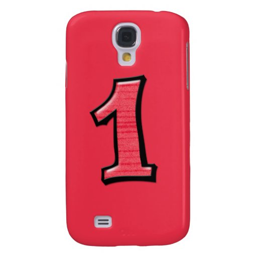 Silly Number 1 red iPhone 3G Case Samsung Galaxy S4 Covers