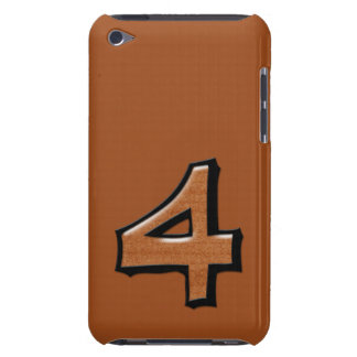 Silly Number 4 chocolate iPod Touch Speck iPod Touch Cases