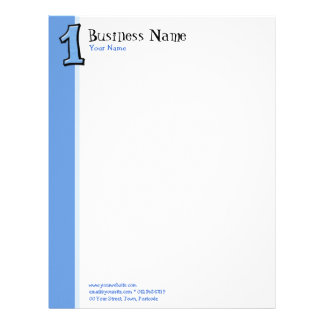 Silly Numbers1 blue Letterhead