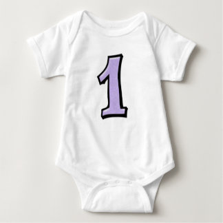 Silly Numbers 1 lavender Infant  T-shirt