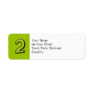 Silly Numbers 2 green Return Address Label