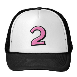 Silly Numbers 2 pink Hat