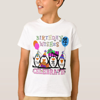 Silly Penguins 4th Birthday T-shirts and Gifts