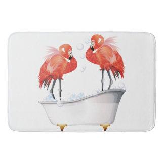 Silly Pink Flamingos in the Bath Bath Mat