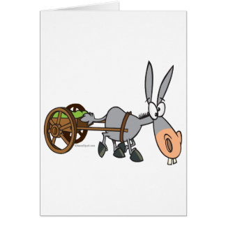 silly plodding donkey mule cartoon greeting cards