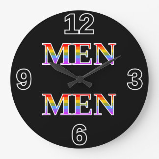 "Silly, Proud, Rainbow-Colored ""MEN"" Clock"