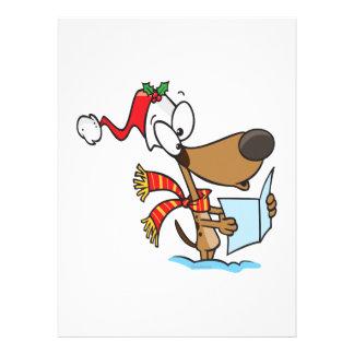 silly puppy singing xmas carols cartoon announcement