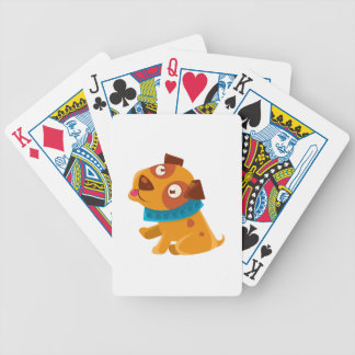 Silly Puppy With The Blue Collar Ready To Go For Bicycle Playing Cards
