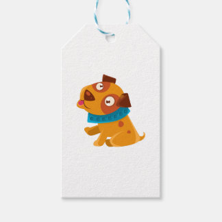 Silly Puppy With The Blue Collar Ready To Go For Gift Tags