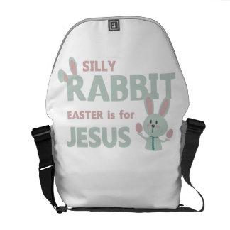SILLY RABBIT - EASTER is for JESUS - Funny Easter Messenger Bag