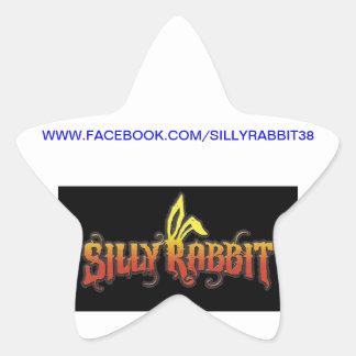 Silly Rabbit Star Sticker