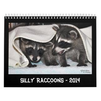 Silly Raccoons - 2014 Calendar