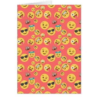 Silly Red Emoji Pattern Card