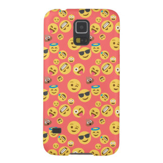 Silly Red Emoji Pattern Galaxy S5 Covers