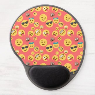 Silly Red Emoji Pattern Gel Mouse Pad