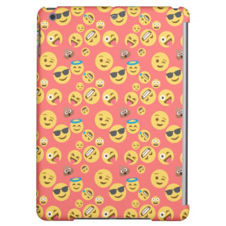 Silly Red Emoji Pattern iPad Air Cover