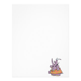 silly rhino on a cellphone cartoon personalized letterhead
