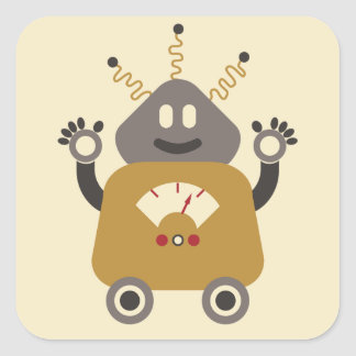 Silly Robot Sticker