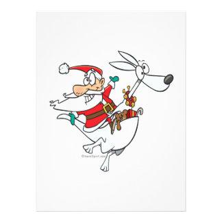 silly santa on a kangaroo funny cartoon personalized invitation